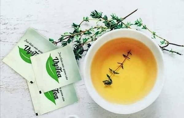 sử dụng trà giảm cân vy tea